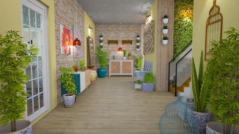 urban jungle hallway - by Moonpearl