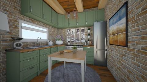 kitchen - Rustic - Kitchen - by picooooo