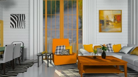 Orange Is So Sweet - Classic - Living room - by deleted_1513655778_Valencey14