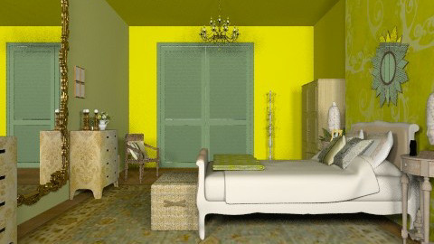 Indian Ivy 2 - Vintage - Bedroom - by mrschicken