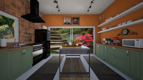 Tile Kitchen - Kitchen - by VeroDale