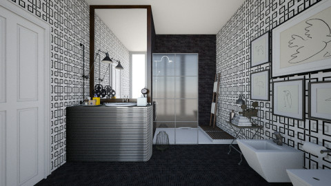 His - Eclectic - Bathroom - by AlSudairy S