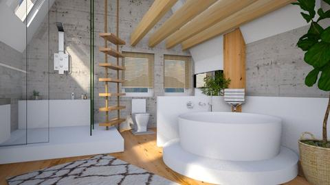 Attic bathroom - by savannahp0562