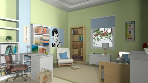 For CHri_A 2 - Eclectic - Bedroom - by Theadora