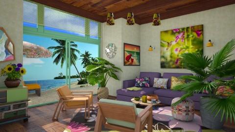 M_Tropical bohemian room - Living room - by milyca8