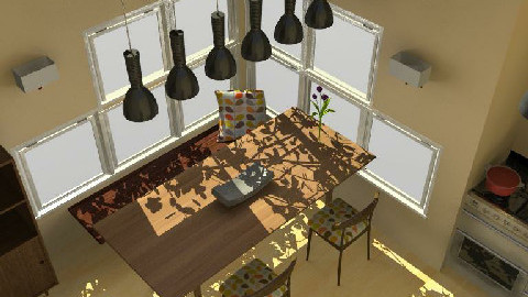 Kitchen and Dining Space - Dining Room - by InfernoTop