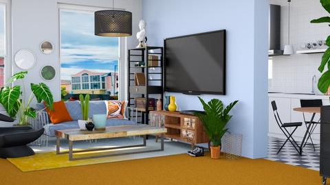 Orange Carpet - Living room - by _firecrackers