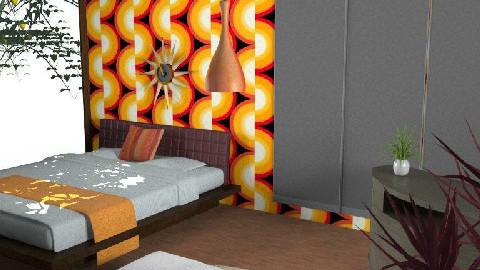 orange - Bedroom - by Michel