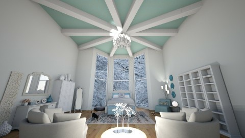 Frosty Ceiling - Feminine - Bedroom - by gingermoone