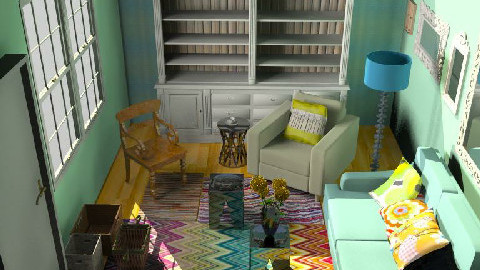 First 3d - Country - Living room - by toadfool