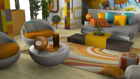 Bubble room - Living room - by szalaiedit