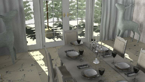 White Christmas Dining - Dining Room - by ellis1711