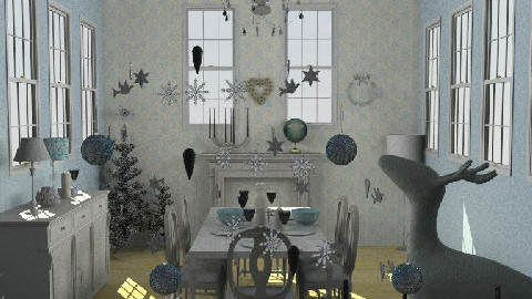 Christmas Table - Dining Room - by pixiedust000