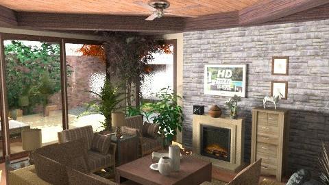 Provincial - Country - Living room - by KittiFarkas
