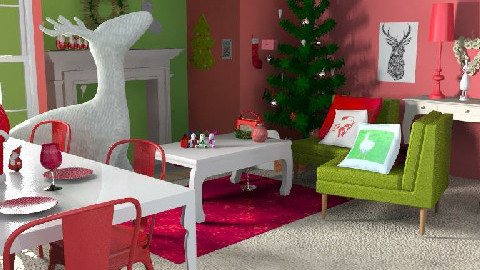 Christmas Table - Living room - by pixiedust000