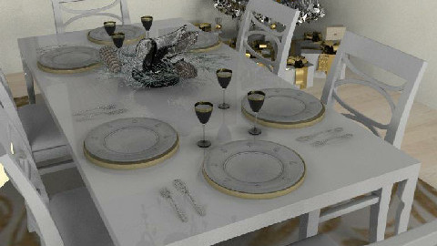 Christmas Feast close-up view - Dining Room - by gingerpantz