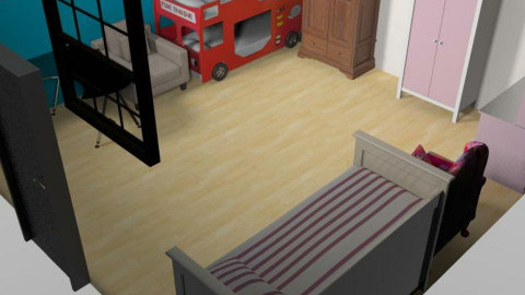 a girl and boys room - Bedroom - by navdeep