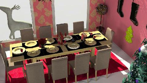Christmas wine - Dining Room - by JayCee30