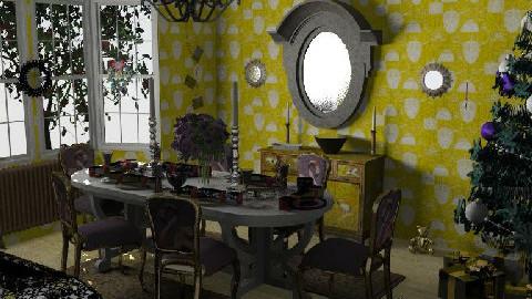 Christmas table - Dining Room - by KarenWilkinson