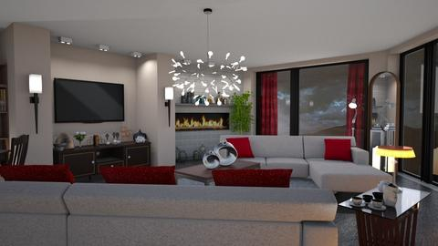 M_Red and brown - Eclectic - Living room - by milyca8