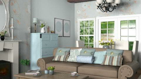 Country Living room - Country - Living room - by yasemin04
