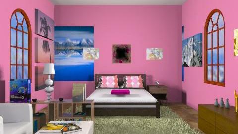 Funky Teen Bedroom (Girl) - Modern - Bedroom - by yankees2