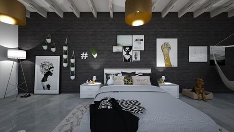 modern teenage room - Modern - Bedroom - by JazzyMarie3339