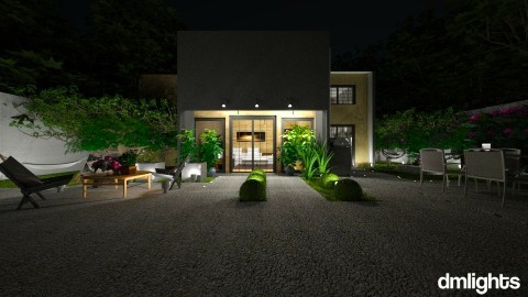 Garden_night - Modern - Garden - by Mihailovikj Mimi