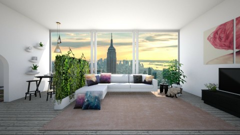 city apartment - Living room - by tynapineapple