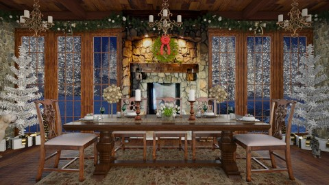 Design 230 Christmas Dinner - Dining room - by Daisy320