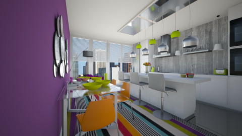 Colour Kitchen - Modern - Kitchen - by emmaaab
