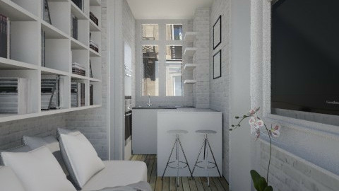 ParisTinyRoom001 - Modern - Living room - by Ivana J