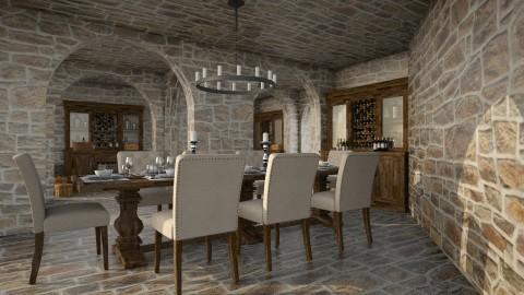 Wine Cellar Dining - by Valentinapenta
