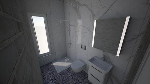 Dolna lazienka 1 - Bathroom - by robiwa