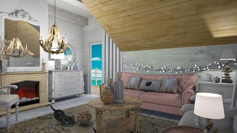 Beside the sea - Living room - by The quiet designer