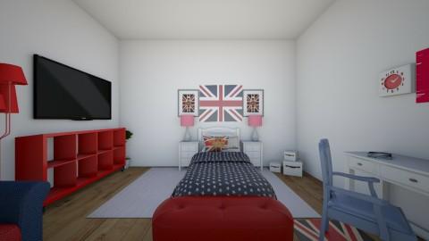 London - Retro - Bedroom - by Katiemichellegilbert