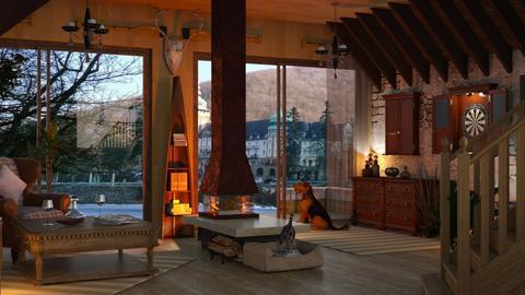 Boathouse L_Hamori Lake - Rustic - Living room - by ZsuzsannaCs