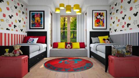 Quarto Mouse - Bedroom - by Sanare Sousa