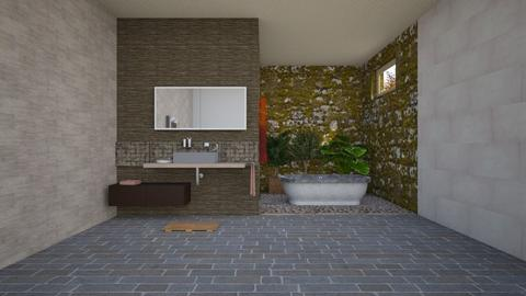 Urban jungle bathroom - Bathroom - by Moonpearl
