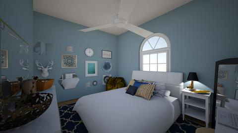 gold white & navy room - Bedroom - by michelle_m505