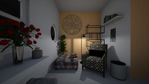 L cosy corner night - Living room - by Orange Blossom Interiors