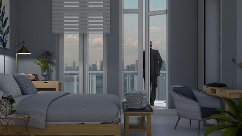 blue bedroom - by jolaskajp