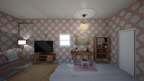 Natural Bedroom in Brown - Bedroom - by Deasye