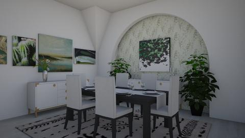 Green Dining - Dining room - by LooseThreads