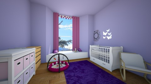 baby girl nursery - Feminine - Kids room - by Horsecrazy200