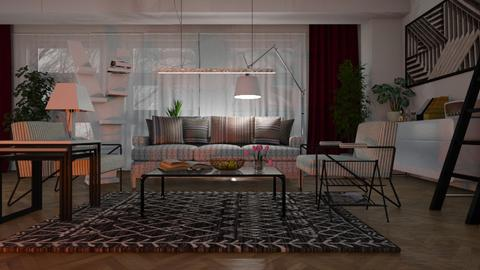 Stripes - Living room - by ZuzanaDesign