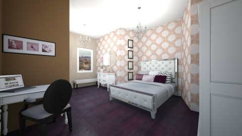 bedroom rose and gold - Bedroom - by beatrizrauta