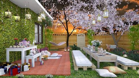 Festa no Jardim  - Garden - by Roberta Coelho