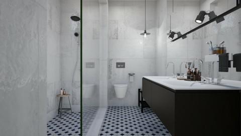 BW - Bathroom - by Liu Kovac