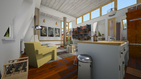 Putney Apartment - Masculine - Living room - by russ